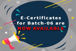 E-Certificates for Batch-06 are Now Available!